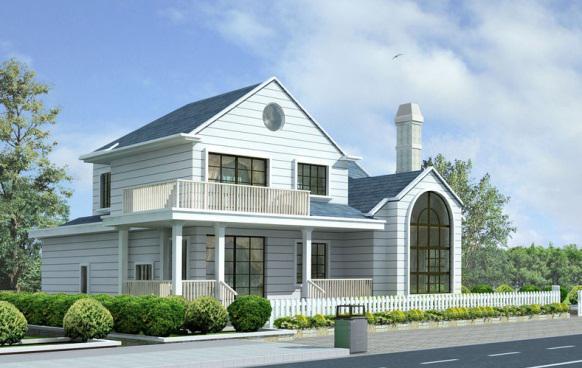 装配式轻钢结构别墅特点抗震:构造住与基础连接及柱与房架连接均为高